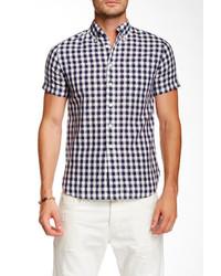 Grayers shadow gingham regular fit short sleeve shirt medium 295799