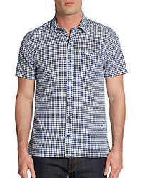 Luca gingham check cotton sportshirt medium 295804
