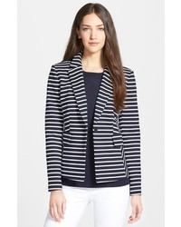 Collection ester stripe ponte jacket medium 186422