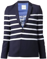 Each x other contrast stripe blazer medium 186426
