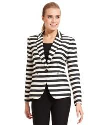 Nine West Single Button Striped Blazer