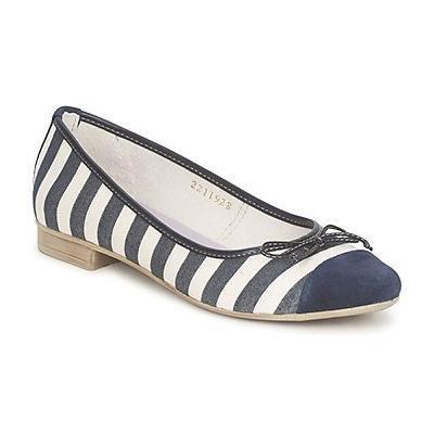 Tamaris Stripe Ballerina Navy White