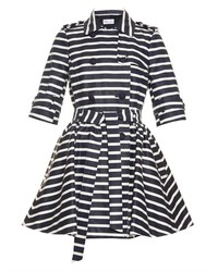 RED Valentino Redvalentino Striped Trench Coat