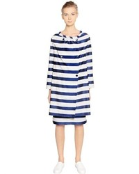 Emporio Armani Striped Cotton Techno Coat