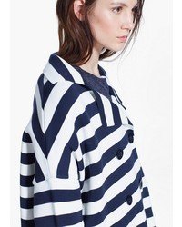 Mango Outlet Striped Knit Coat