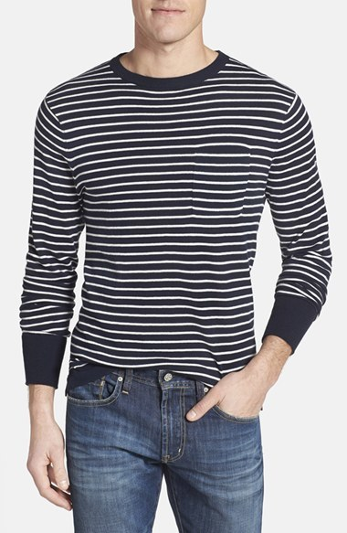 Relwen Beach Stripe Crewneck Cotton Jersey Sweater | Where to buy ...