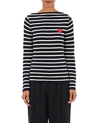Comme des garons play striped wool sweater medium 3649037