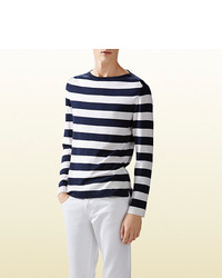 Gucci Striped Silk Cotton Sweater