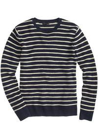 J.Crew Linen Cotton Sweater In Nautical Stripe