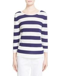 Max Mara Ordito Stripe Cotton Sweater