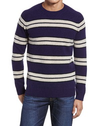 Nn07 Nathan Stripe 6212 Wool Crewneck Sweater