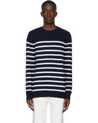 A.P.C. Navy White Travis Sweater
