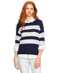 Gap Open Stitch Stripe Sweater