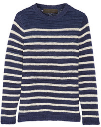 Picasso striped cashmere sweater navy medium 3649038