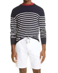 Eleventy Stripe Merino Wool Sweater