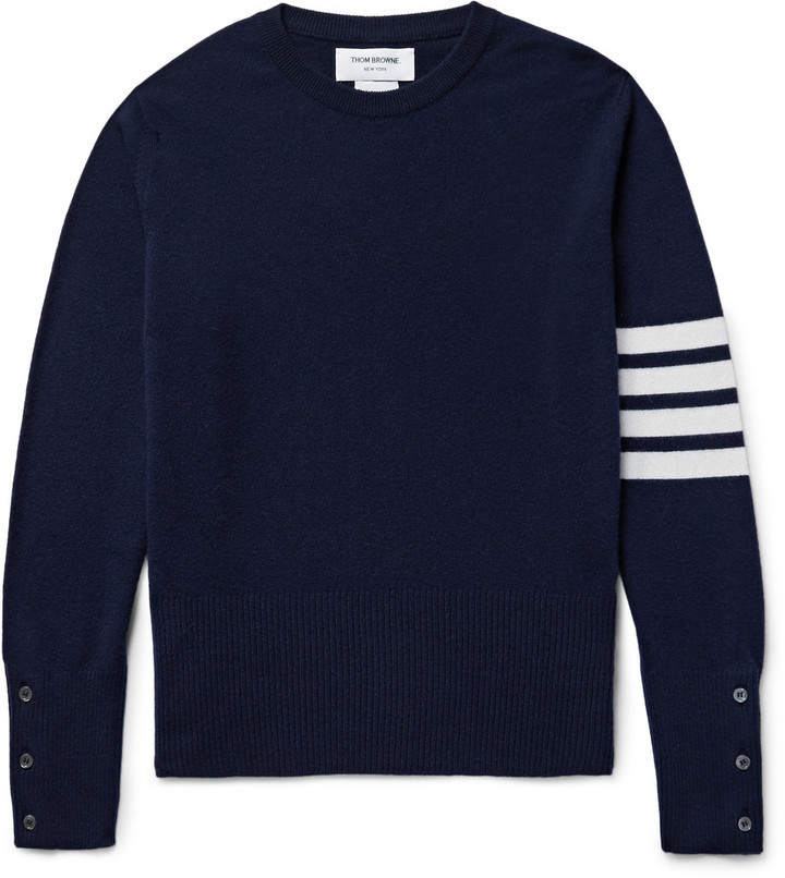 ba1bd78790 Thom Browne Striped Cashmere Sweater, $1,590 | MR PORTER | Lookastic.com