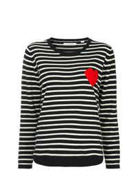 Chinti & Parker Striped Heart Sweater