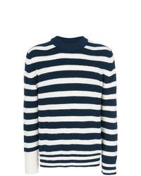Sacai Striped Mock Neck Sweater