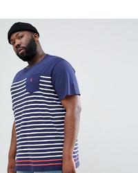 552b1f5438 ... Polo Ralph Lauren Big Tall Stripe T Shirt Pocket Polo Player In  Navywhite