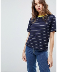 Only Contrast Collar Stripe Tee