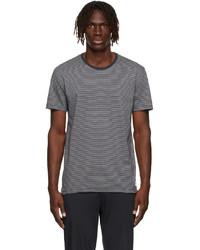 Paul Smith Grey Navy Organic Cotton Stripe T Shirt