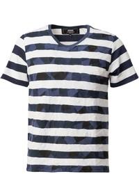 Patchwork stripe t shirt medium 432563