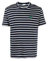 Etro Stripe Embroidered Logo T Shirt