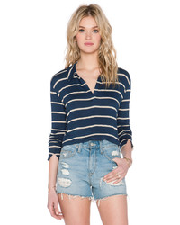 LnA Collar Crop Sweater