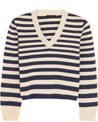 Collection striped cotton sweater medium 67900