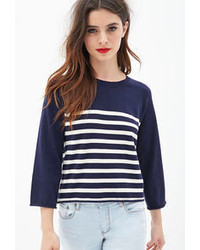 Striped cropped sweater medium 67899