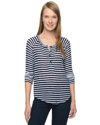 Splendid Deco Stripe Knit Henley