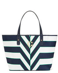 C wonder printed stripe signature tote medium 54205