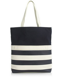 De la vietm for jcrew stripe medium two way tote medium 54206