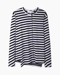 Comme des Garcons Comme Des Garons Shirt Man Asymmetrical Stripe Longsleeve T Shirt