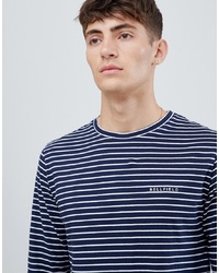 ad95b3ac31 ASOS DESIGN T Sleeve Striped T Shirt With Emblem Print $10 $25 · Bellfield Long  Sleeve Top In Navy Stripe