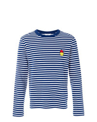 AMI Alexandre Mattiussi Long Sleeved T Shirt With Smiley Patch