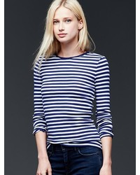 Gap Modern Long Sleeve Stripe Tee