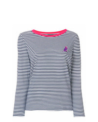 Ps By Paul Smith Striped Dinosaur Logo Jersey Top