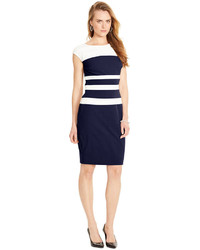 Sleeveless striped sheath dress medium 297014