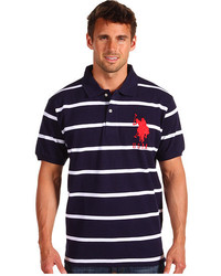 2 color narrow stripe polo medium 211785