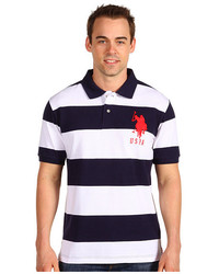U.S. Polo Assn. 2 Color Wide Stripe Polo