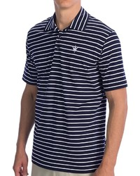 Boast USA Classic Jersey Striped Polo Shirt