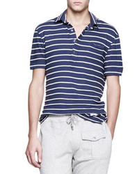 Michael Bastian Vintage Striped Polo Navy Michl Bastian