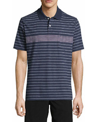 St. John's Bay Short Sleeve Striped Jersey Polo