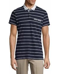 Saks Fifth Avenue Stripe Fashion Cotton Polo