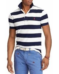 Polo Ralph Lauren Striped Mesh Custom Slim Fit Polo Shirt 100%