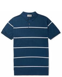 Striped sea island cotton polo shirt medium 6994038