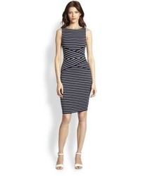 Contrast stripe bodycon dress medium 113270