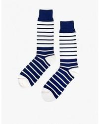 Breton Striped Sock In Navy