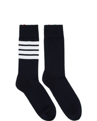 Thom Browne Navy 4 Bar Mid Calf Socks